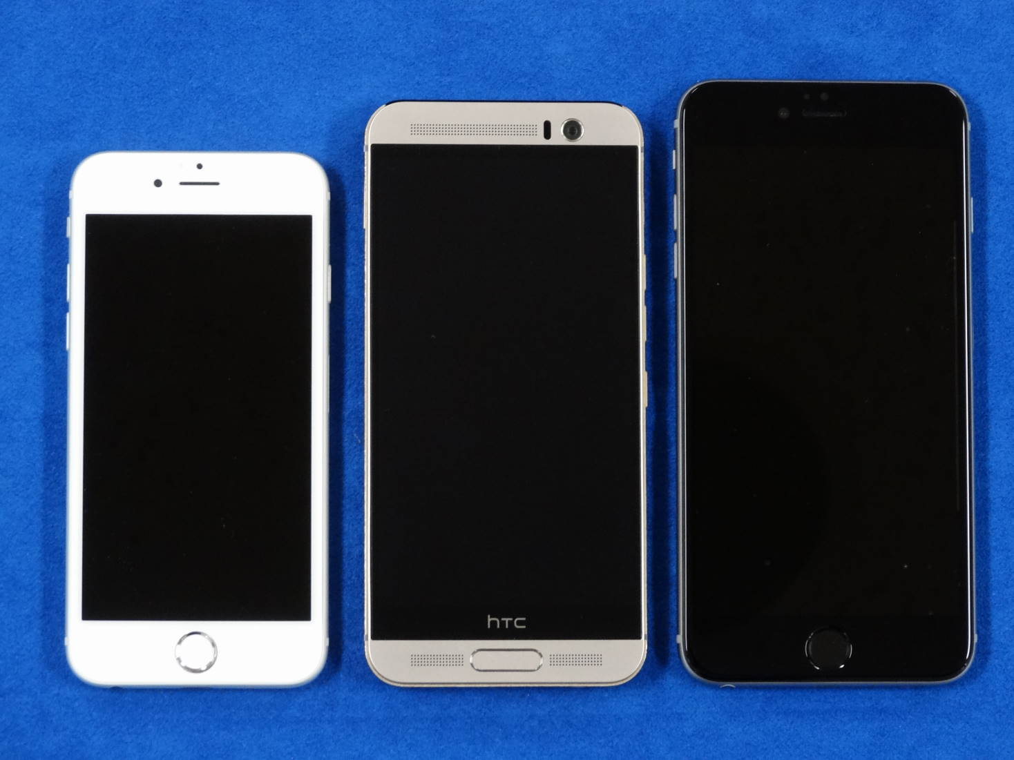 HTC One M9 Plus と iPhone 6 と iPhone 6 Plus 大きさ比較