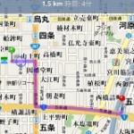 iPhone 3Gの経路検索を早速使ってみる。