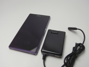 AC アダプタ- with マグネットコネクターケーブル(1m) for Xperiaを試す!![Xperia_Report]