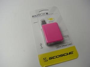 「Scosche boltBOX Lightningコネクタ巻取りケーブル」を買った。自腹で。