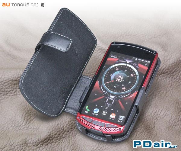 PDAIR レザーケース for TORQUE G01 横開きタイプ