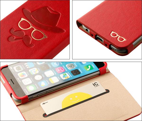 iPhone 6のヒゲ・クリップ・旅行バッグ・ビスケットなケースは特典付!(シンラクリエイション)