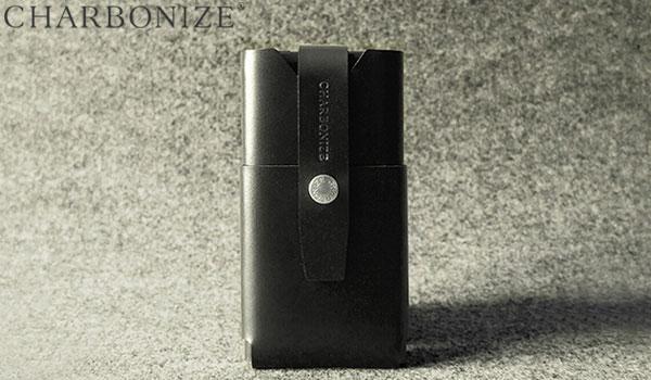 Charbonize レザー ウォレットタイプケース for iPhone 6(ブラック)
