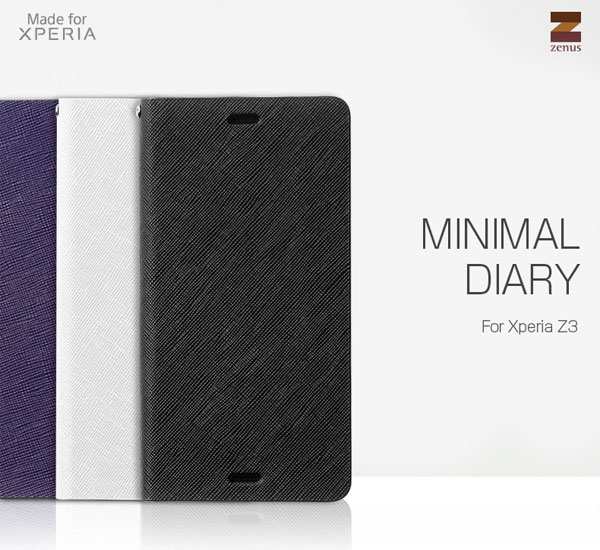 Zenus Minimal Diary for Xperia (TM) Z3 SO-01G/SOL26/401SO
