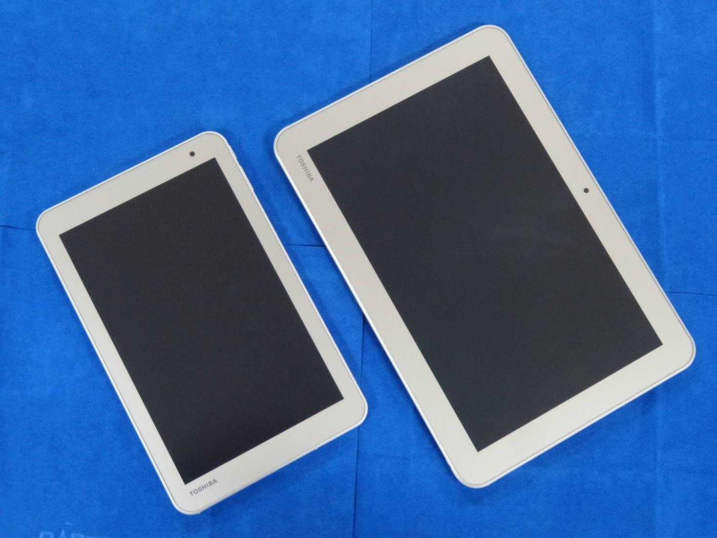 dynabook Tab S68とdynabook Tab S80の表面
