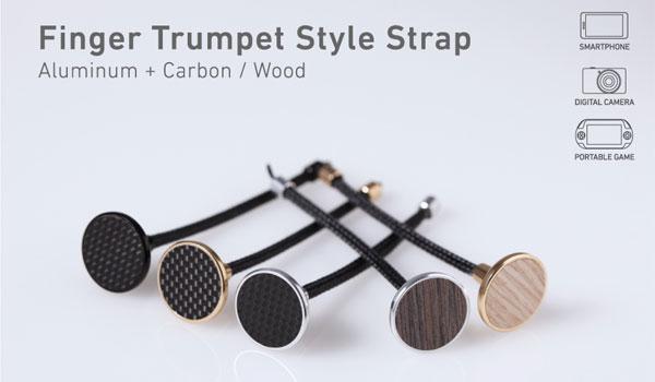 Finger Trumpet Style Strap Aluminum + Carbon/Wood