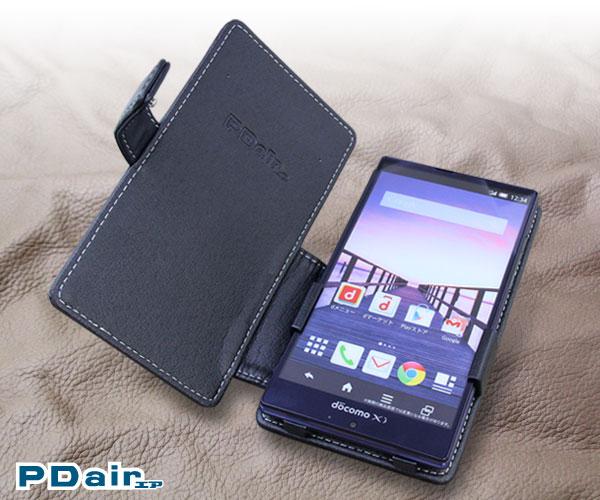 PDAIR レザーケース for AQUOS ZETA SH-01G/Disney Mobile on docomo SH-02G 横開きタイプ