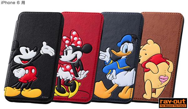 ディズニー・ポップアップ・ブックカバータイプ・レザージャケット(合皮タイプ) for iPhone 6