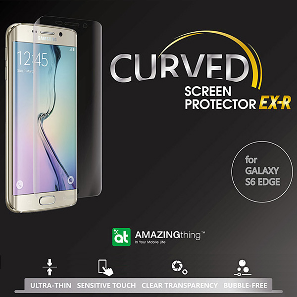 AMAZINGthing Ultra-Clear Curved Screen Protector for Galaxy S6 edge SC-04G/SCV31/404SC
