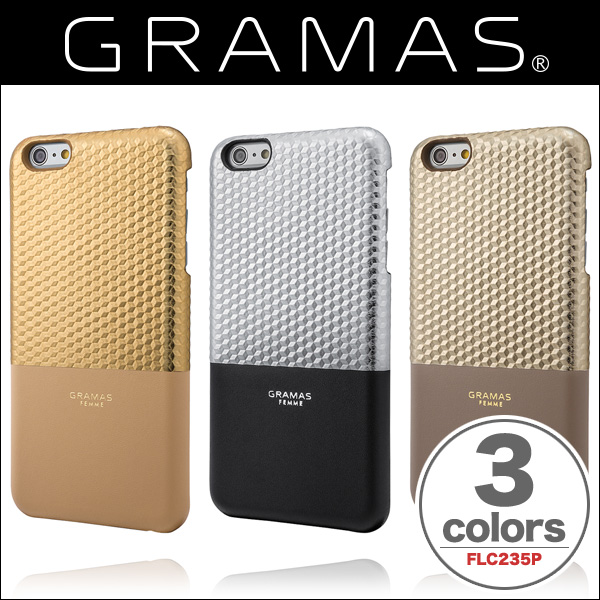 "GRAMAS FEMME Back Leather Case ""Hex"" FLC235P for iPhone 6s Plus/6 Plus"