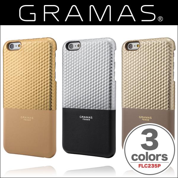 "GRAMAS FEMME Back Leather Case ""Hex"" FLC235P for iPhone 6s Plus/6 Plus"