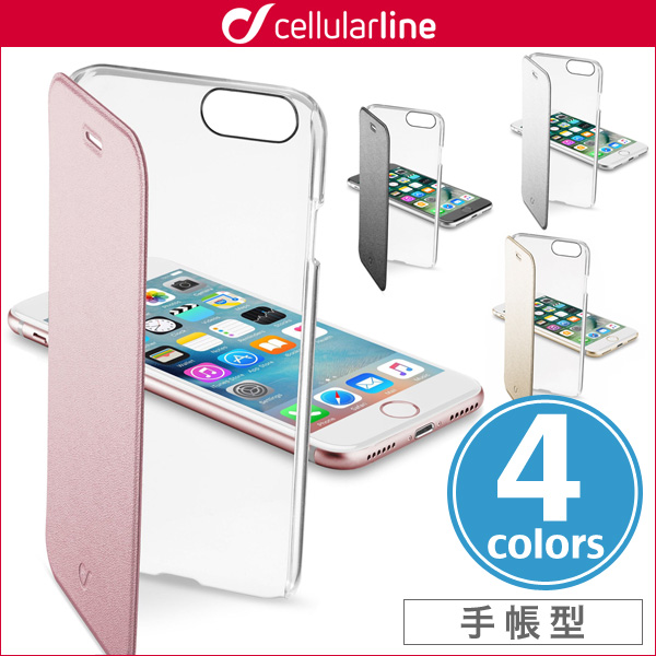 cellularline Clear Book 手帳型カード収納ケース for iPhone 8 / iPhone 7