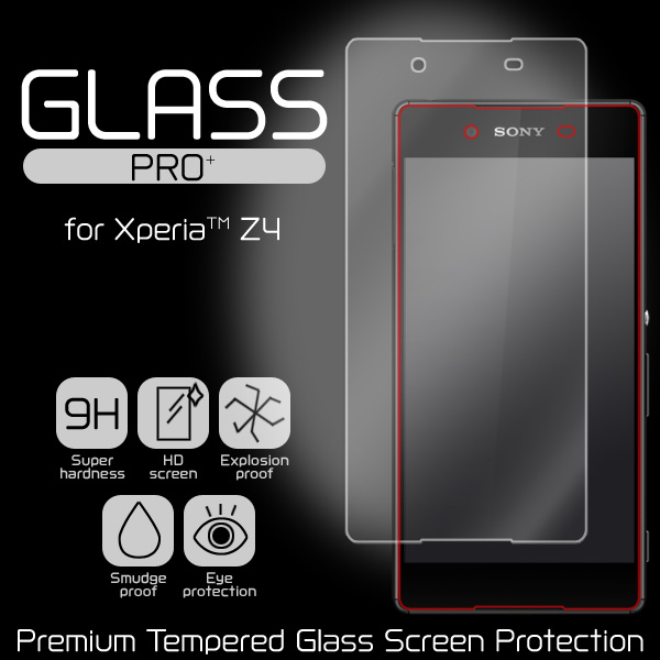 GLASS PRO+ Premium Tempered Glass Screen Protection for Xperia (TM) Z4 SO-03G/SOV31/402SO